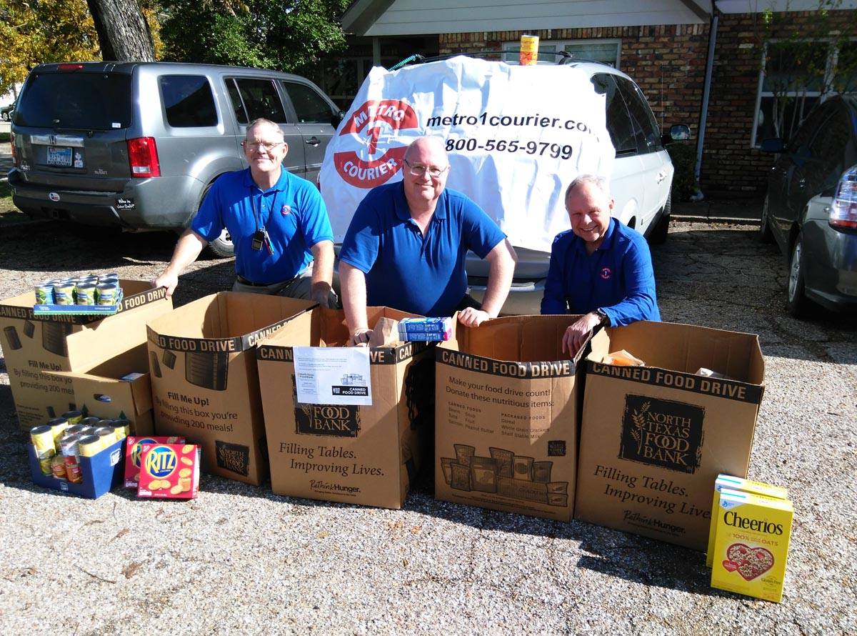 is Food Drive with North Texas Food Bank nets 1,100 lbs